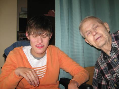 Grandpa and me in May 2009