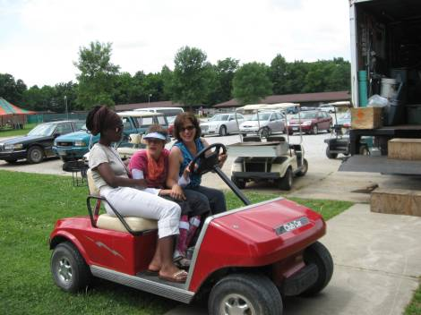 I have never been in a golf cart.  I loved it.