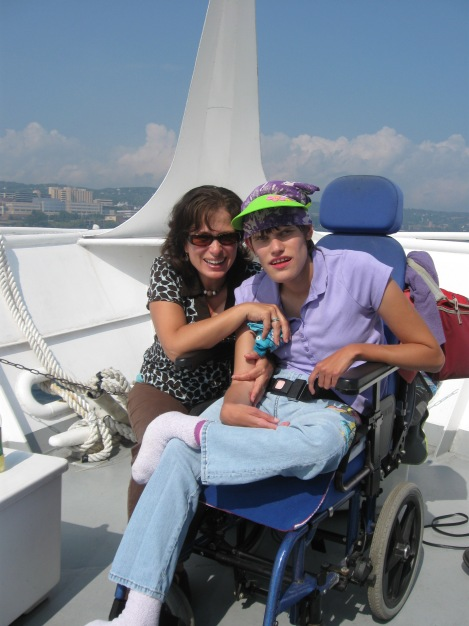 My Mom and I on the tour boat
